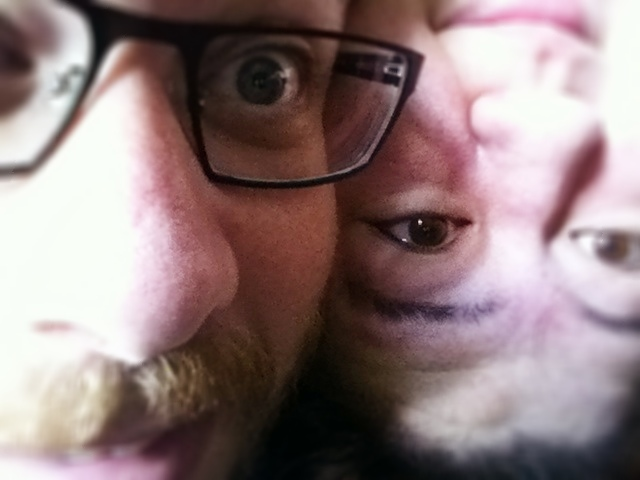 One of these people is upside down.